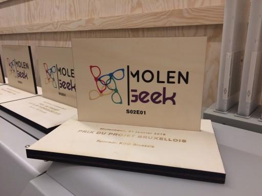 Trophée en bois Molengeek