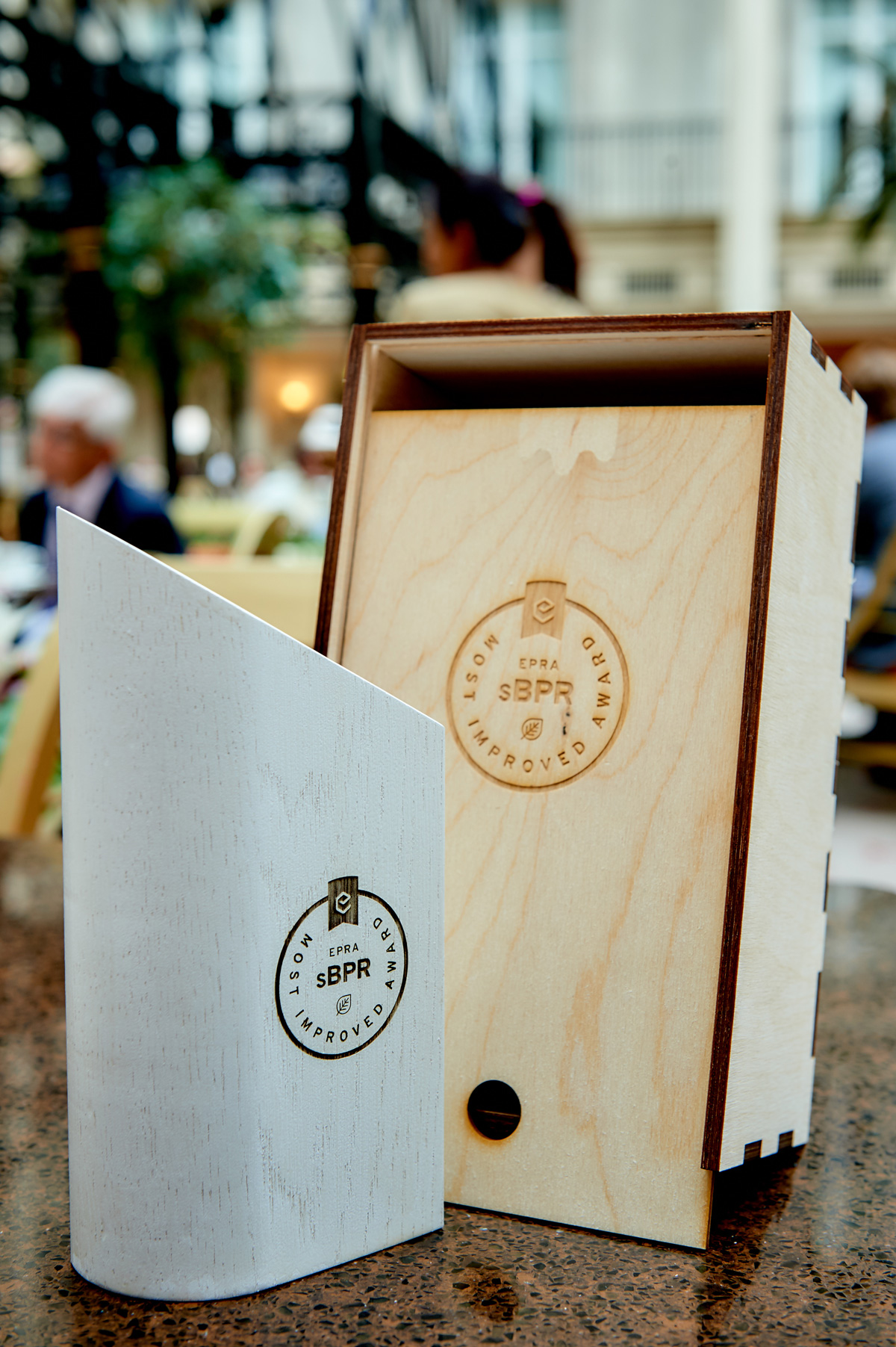 EPRA - trophys wood packaging lasercut by inkut lab