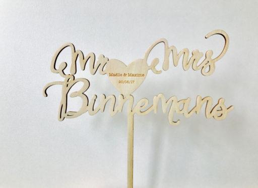 wedding idea décoration mariage idée bois découpe laser gravure nom prénom event evenement objet déco