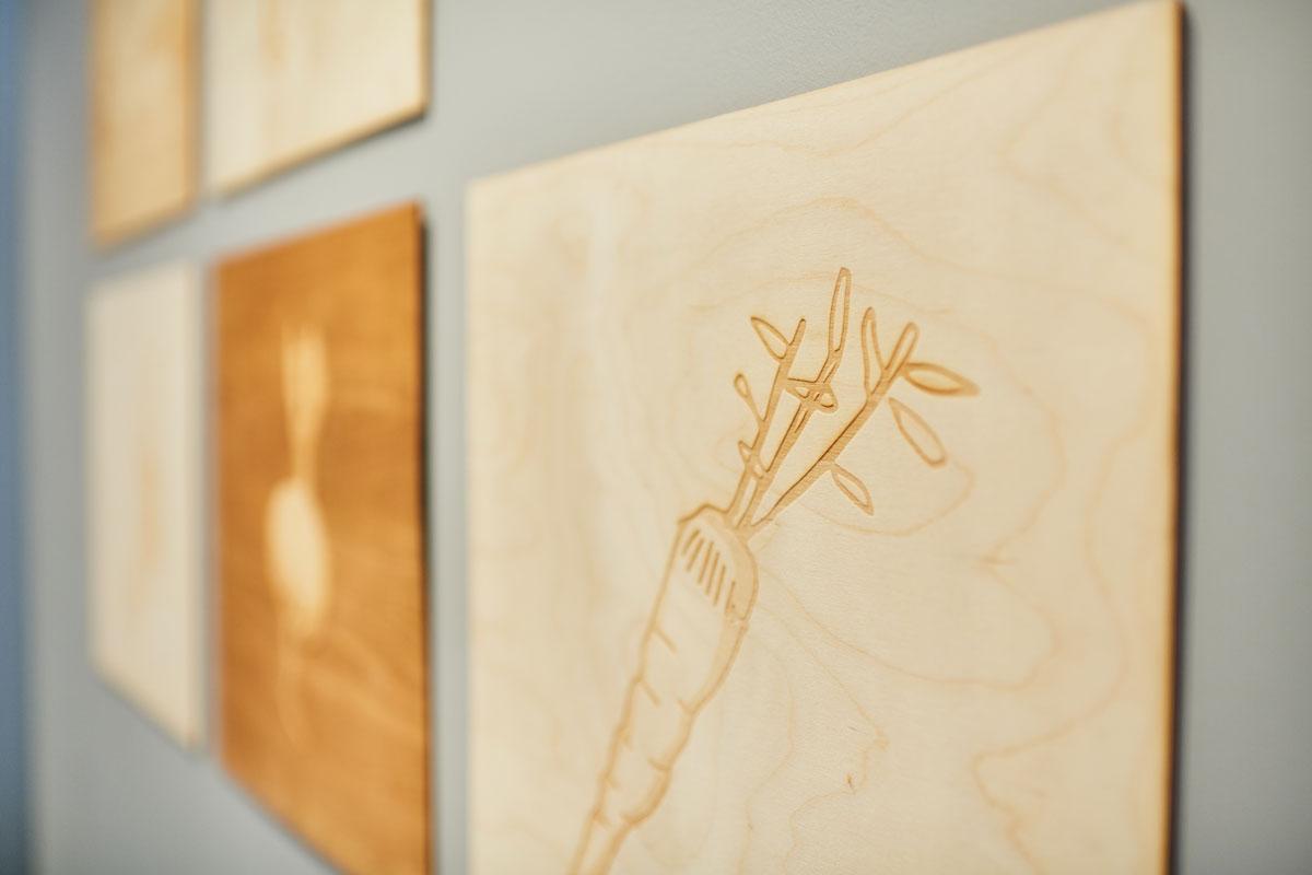 Panneaux-légumes - Exki restaurant aménagement architecture décoration - nature's-kitchen
